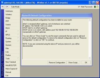 reset setting mikrotik rb750