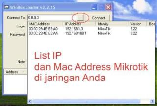login mikrotik mac address