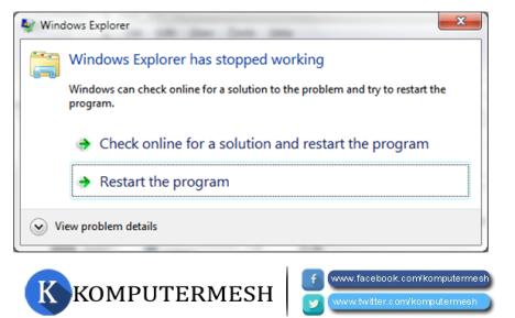 Cara Mengatasi Has Stopped Working Pada Windows